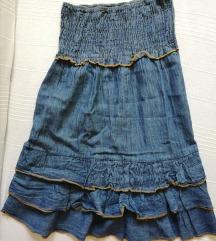 *SALE* Teksas haljinica sa karnerima