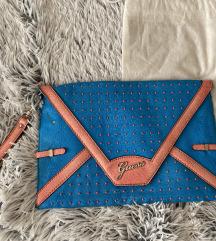 Guess original  plava pismo torbica
