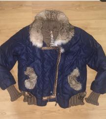 Zimska jaknica sa prirodnim krznom