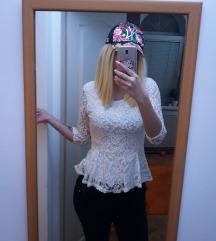 AMISU Elegantna bela majica