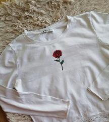 FB Sister bela crop bluzica sa ruzom S