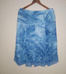 Plava suknja na falte