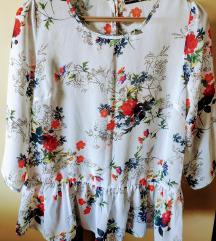 Cvetna svetlo plava bluza