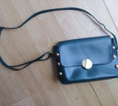 Tamno zelena mala torbica na rame