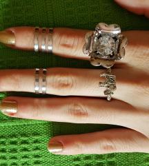 Set 4 prstena na pola prsta moderno