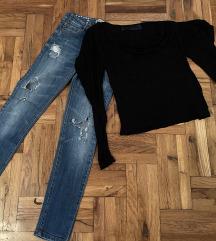 Zara farmerke i majica