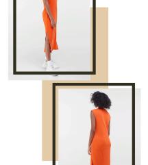 Narandžasta haljina Bershka