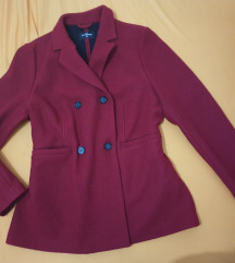 Crveni sako vunen kao kaput