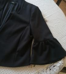 S. OLIVER crni sako sa karnerom na rukavima NOVO