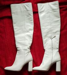 Zara bele kozne cizme  overknee %%%