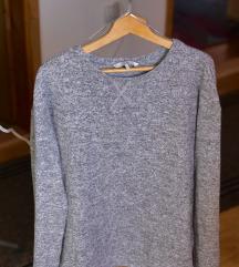 Siva bluza sa džemper efektom