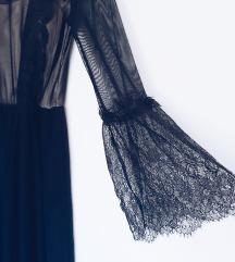 Crna haljina sa tilom