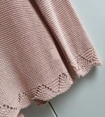 Bledo rozi končani džemper, vel. S/KAO NOVO