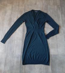 Crna zimska haljinica, M, pamuk