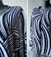 crno bela svečana bluza sa cirkonima br 44 ili 46