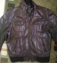 Braon KOŽNA jakna kao nova