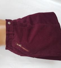 TCHIBO ★ somot suknja boje vina vel 42