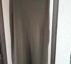 Duga maslinasta suknja
