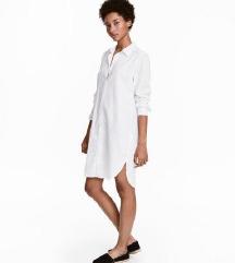H&M lanena kosulja haljina