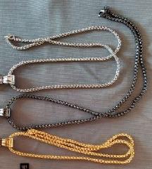 Ogrlica strela u tri boje
