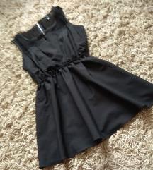 Crna peplum bluza