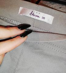 Sive pantalone viskog struka