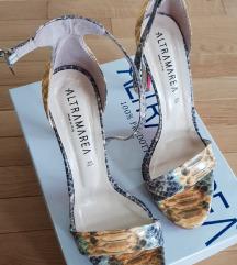 Kožne Sandale zmijski print