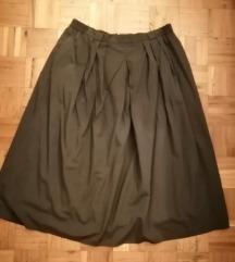 Maslinasto zelena suknja na faltne