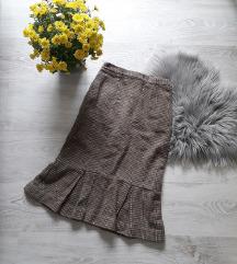 Vintage Suknja, visok struk, do kolena