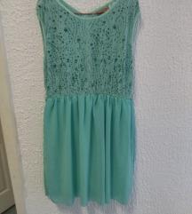 Polovna plava mint haljina L-XL