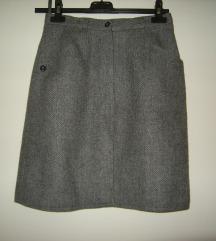 SADA 900din.bila1400 zimska  suknja riblja kost