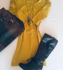 Casual haljina *AKTUELNE* senf boje