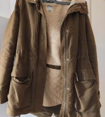 Zara zimska jakna s maslinasto zelena