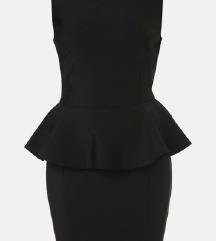 Peplum crna haljina S/M