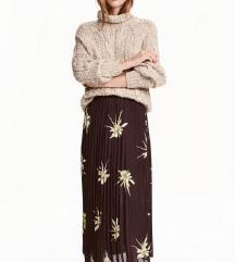 **H&M divna plisirana suknja NOVO L**