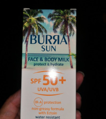 BURRA zaštita od sunca za lice i telo SPF50+