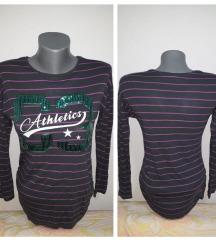 Prugasta majica sa natpisom 146/152-xs