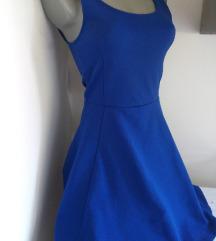 Divided kraljevsko plava haljina S