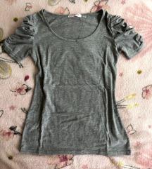 Siva majica sa puf rukavima