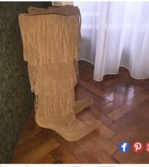 Kozne cizme sa resama