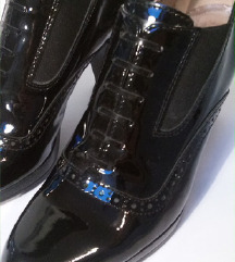 MUBB kozni lak cipele sa stiklom