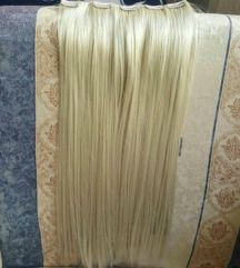Svetlo plava kosa na klipse