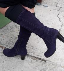 TAMARIS violet kozne duboke cizme kao NOVE