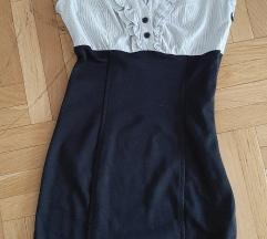 Svečana letnja haljina crno-bela, OČUVANO