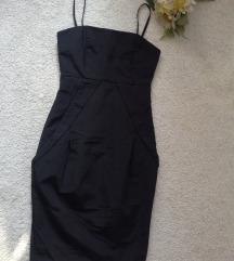 MEXX mala crna haljina - strukirana