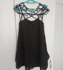 SHEINSIDE crna haljina NOVO