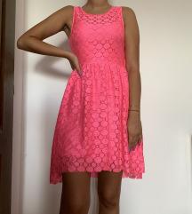 h&m roze haljina(novo)
