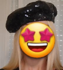 Original brutalna Miss sixty crna beretka