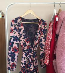 Zara baby pink floralna haljina