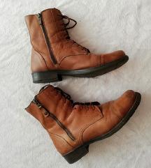 Kožne cipelice sa dva zipa